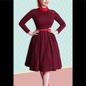 NWT Bettie Page By Tatyana Striped Dress
